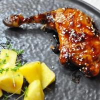 Perlhuhn | Ingwer-Chili-Sauce | Steckrübe