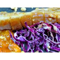Schweinebauch | Rotkohl | Aprikose
