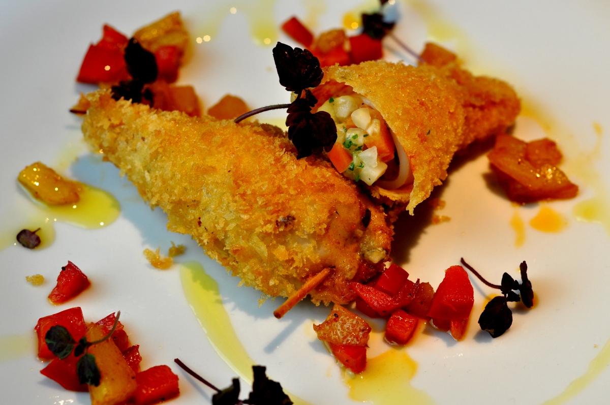 Calamaretti | Paprika | Ananas